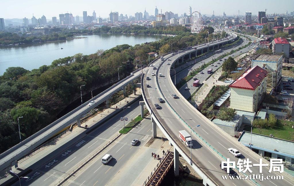 中铁十局承建的济南顺河街高架路荣获中国市政工程